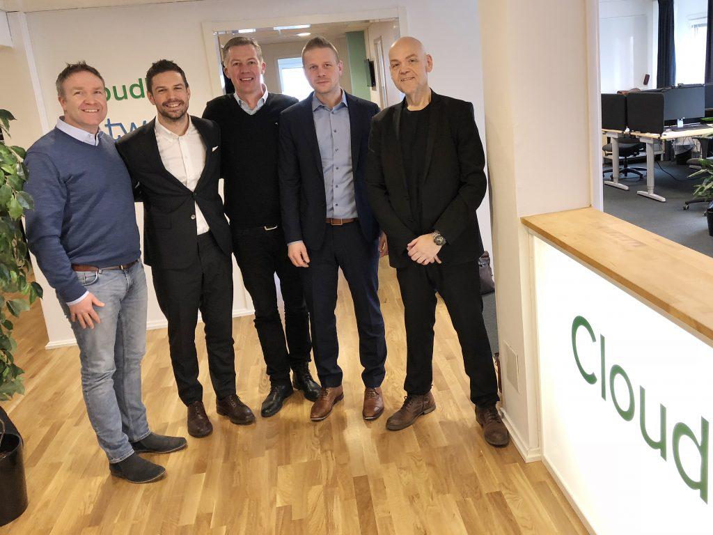 Per Fridber, CloudPro, Peter Björk, Techster, Rikard Olsson, Techster, John Elison, Techster, Gurra Gustafsson, CloudPro.