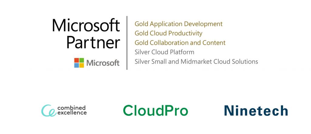 Systerbolagen inom Combined Excellence, Cloudpro och Ninetech, förstärker sitt partnerskap med Microsoft.